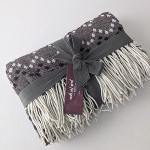 West Elm Maroon Throw Fringed